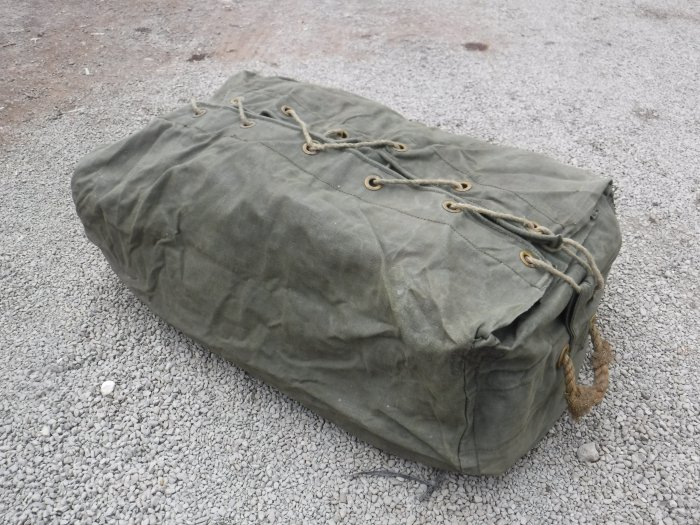 British Army Canvas Tent Storage Valise