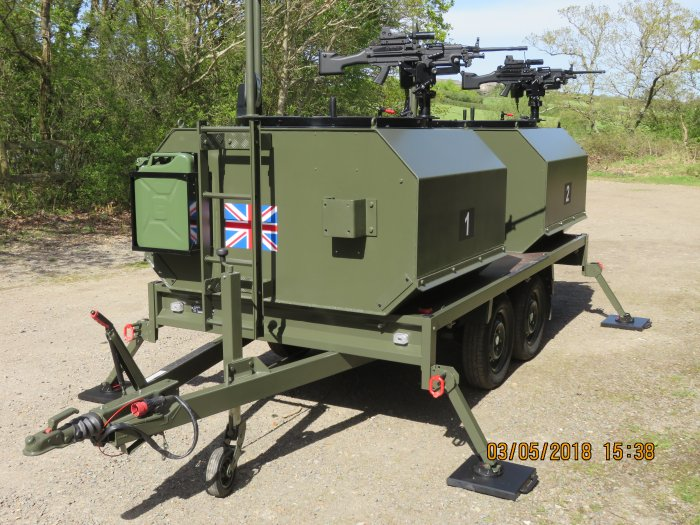Laser shooting training trailer