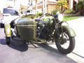 1940 Indian Chief CAV with Sidecar rig